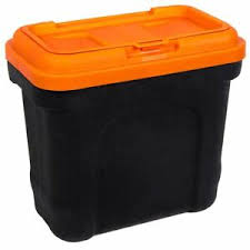 Description: Pet Food Container With Scoop Black & Orange/Green Small Large ...